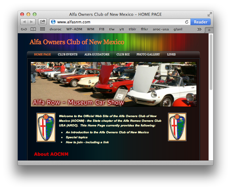 Alfa Owners Club of New Mexico